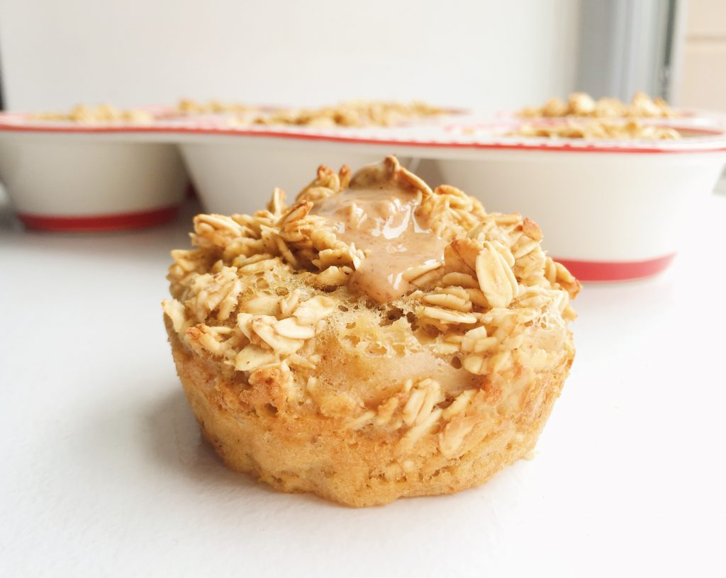 Maple Almond Oatmeal Muffins