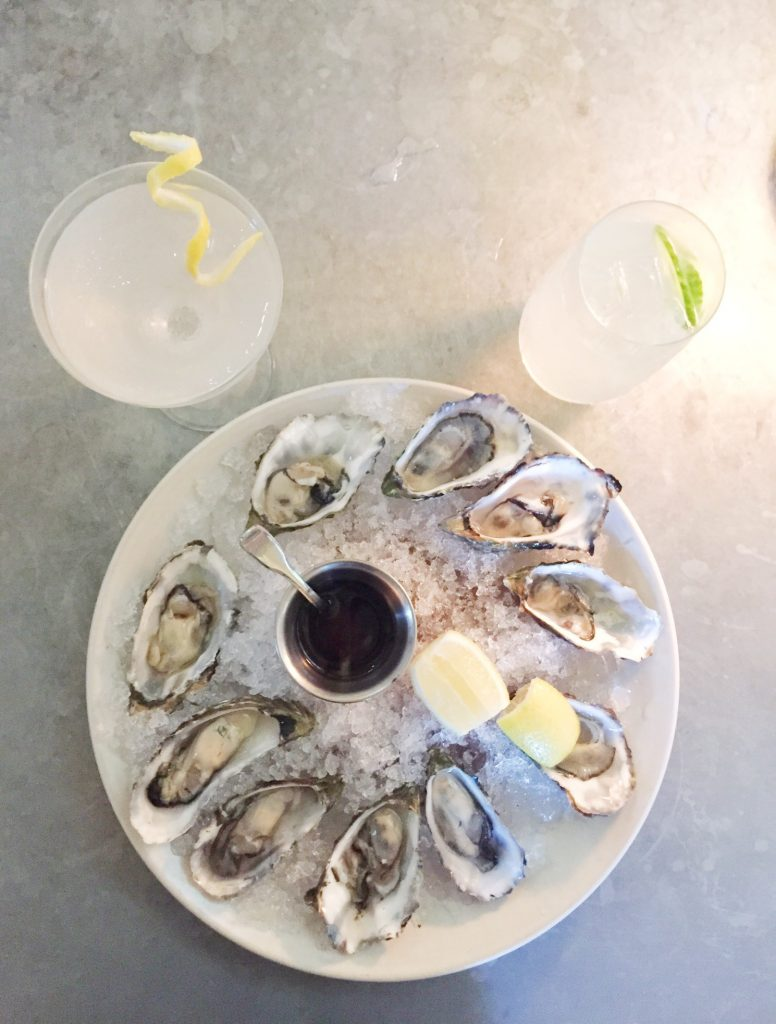 oysters and martinis at Archetype