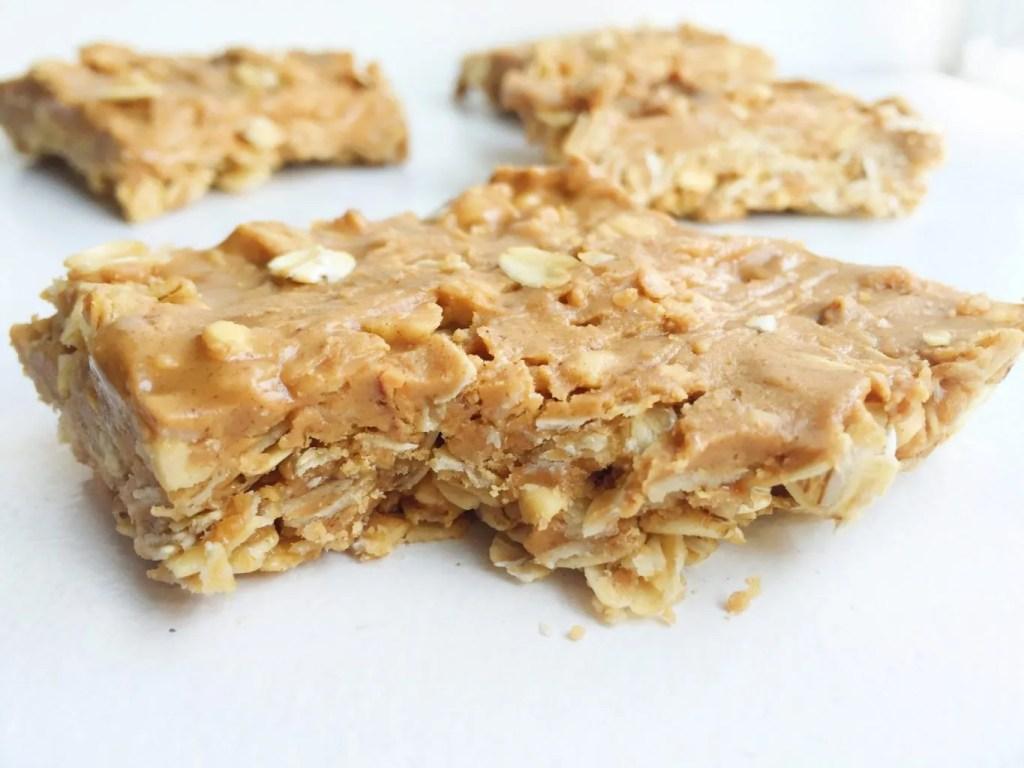 No Bake Peanut Butter Oatmeal Bar