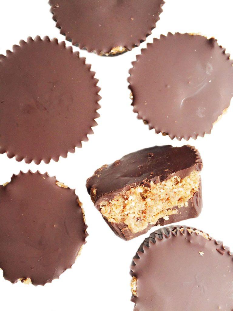 Vegan & Gluten Free Dark Chocolate Cookie Dough Cups