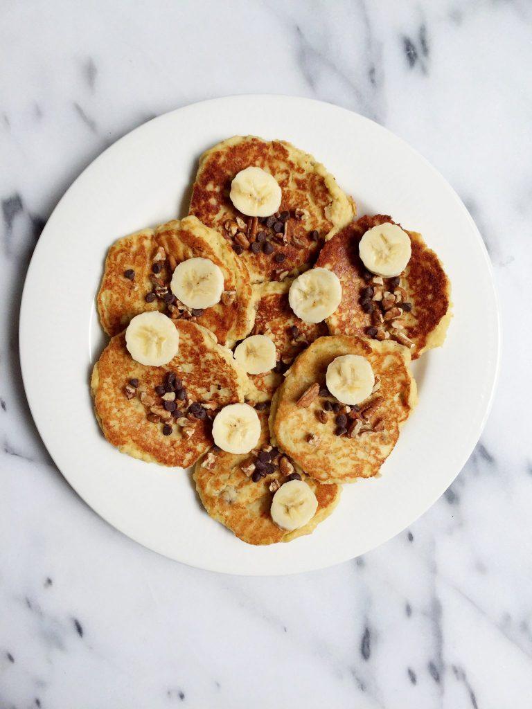 Paleo Banana Bread Pancakes by rachLmansfield
