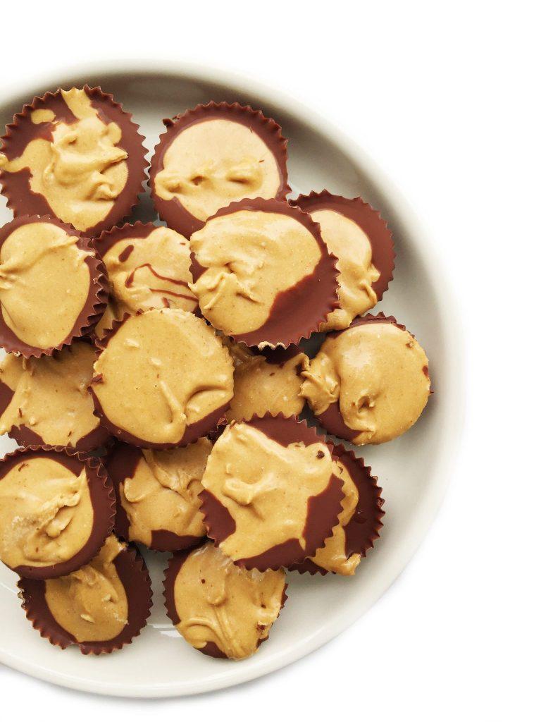 Mini Dark Chocolate Peanut Butter Protein Cups by rachLmansfield