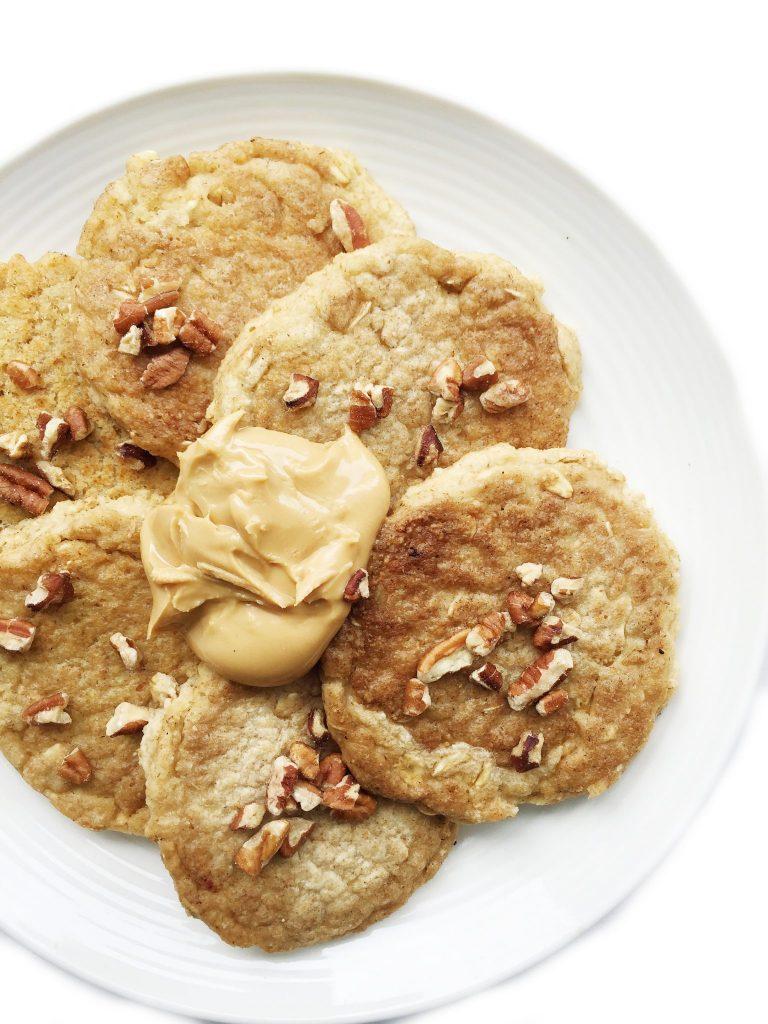 Flourless Cinnamon Stuffed Pancakes by rachLmansfield