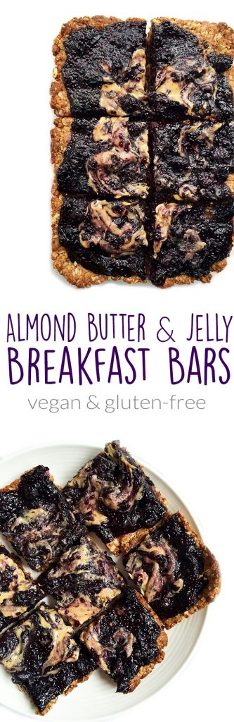 Almond Butter & Jelly Breakfast Bars by rachLmansfield
