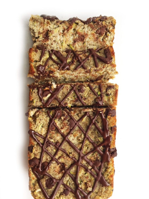 Chocolate Chip Chia Zucchini Breakfast Bread (paleo & vegan)