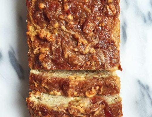 Gluten & Dairy-free Peanut Butter & Jelly Banana Bread