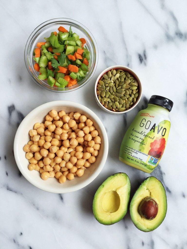 Vegan, Gluten & Grain-free Chickpea Salad Stuffed Avocados
