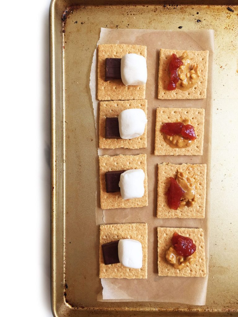 6-ingredient Peanut Butter & Jelly S'mores