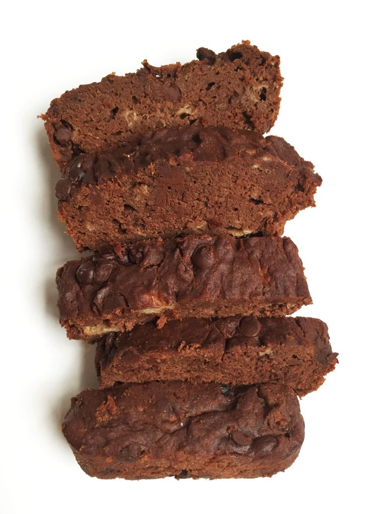 Double Chocolate Chunk Banana Bread, gluten & dairy-free and packed with a secret ingredient