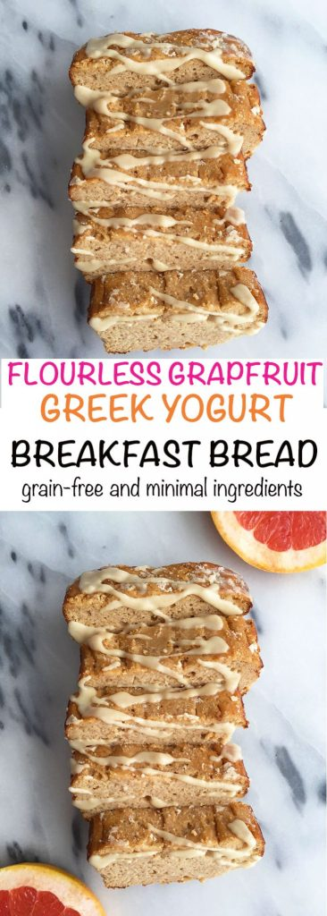 Flourless Grapefruit Yogurt Bread made with less than 10 ingredients