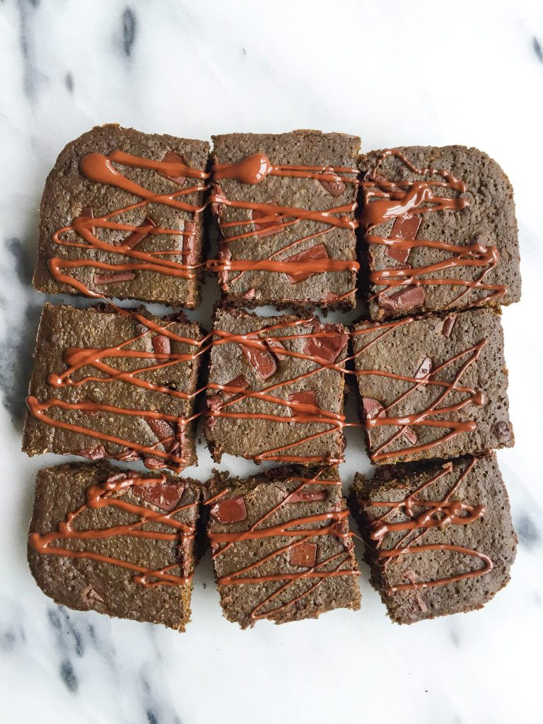 The Ultimate Healthy Brownies with Dark Chocolate Chips. These gluten-free and dairy-free brownies have a secret ingredient, spinach, for an extra boost!