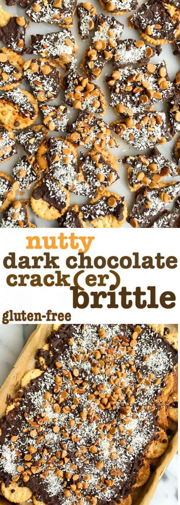 Nutty Chocolate Crack(er) Brittle (gluten-free)