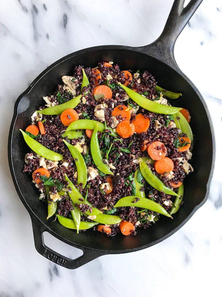 One-Skillet Vegetarian Fried Forbidden Rice
