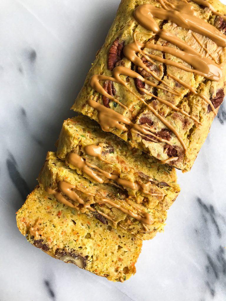 Chickpea Flour Carrot Zucchini Bread (gluten-free, dairy-free)