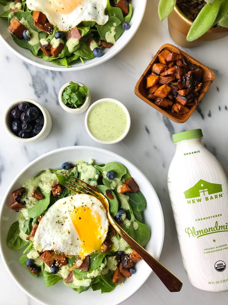 Savory Breakfast Salad with Creamy Cilantro Sauce for a delicious Whole30 meal!