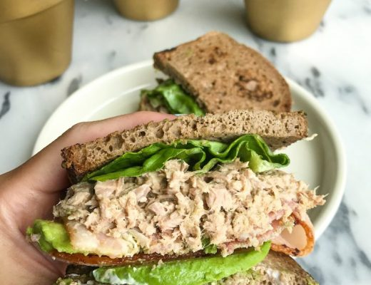 Crispy Bacon Avocado Tuna Club Sandwich for a twist on your usual Turkey Club Sandwich!