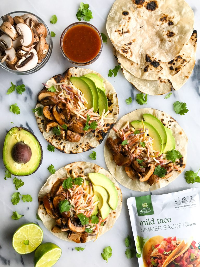 Slow-Cooked Mushroom Tacos with Spicy Slaw