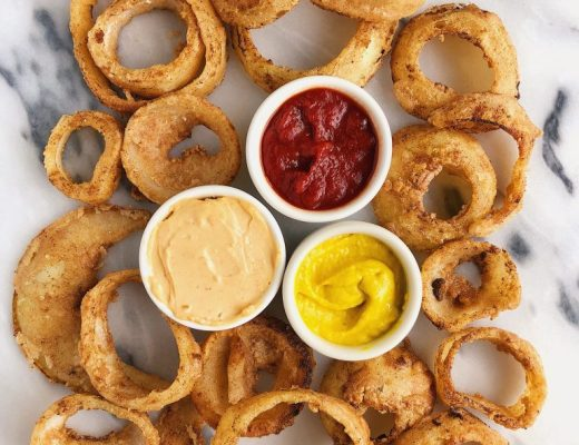 Healthy Stovetop Vegan Onion Rings