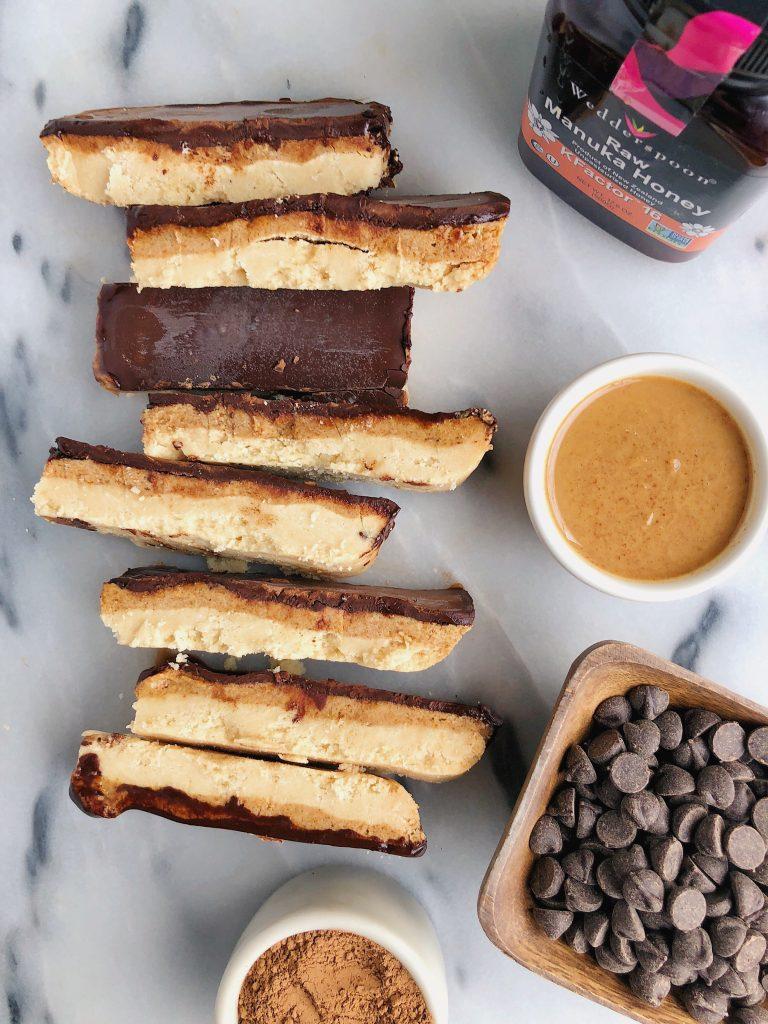 Homemade Paleo Dark Chocolate Twix Bars
