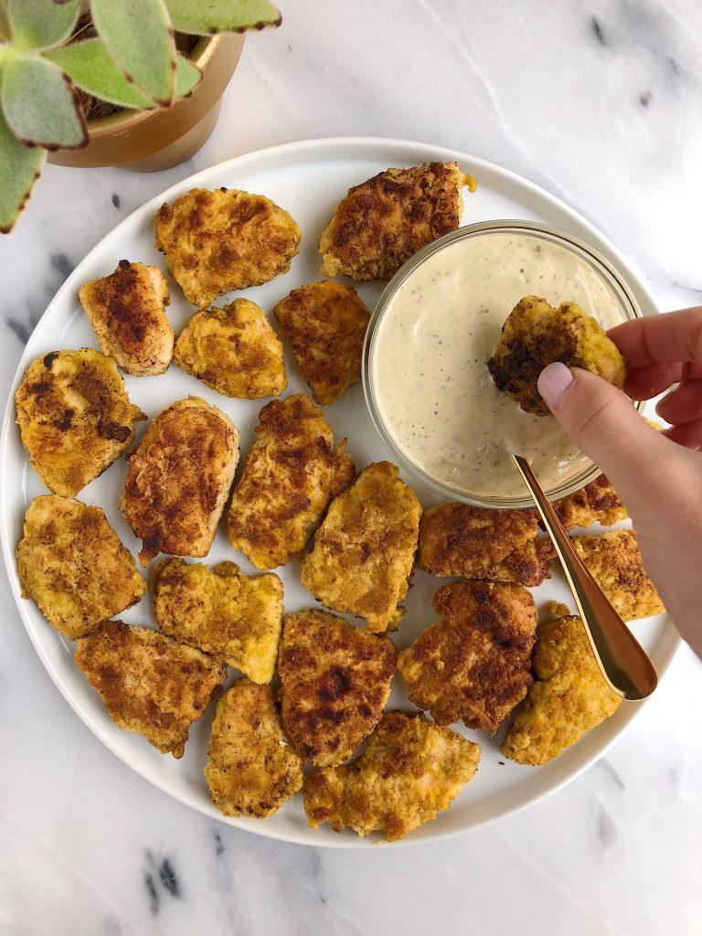 Paleo Crispy Chicken Nuggets (nut-free!)