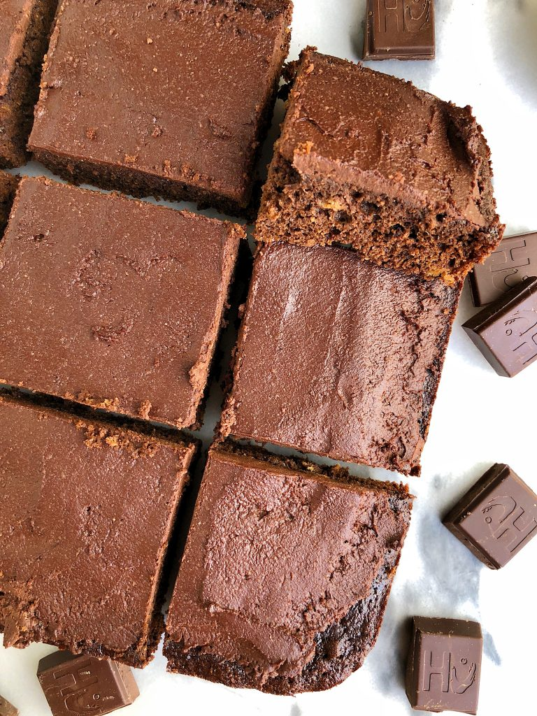 The Best Paleo Chocolate Sheet Cake made with coconut flour, coconut milk and all nut-free ingredients paired with a homemade chocolate ganache that is refined sugar-free!