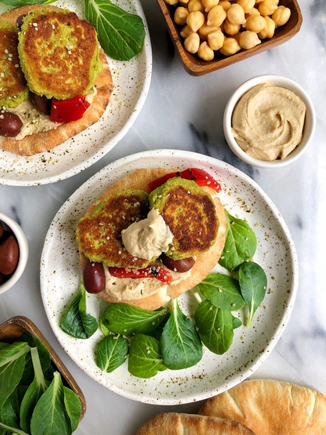 10-minute Crispy Green Falafels made with chickpeas, greens and other healthy and delicious vegan and gluten-free ingredients!