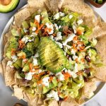 """Zesty Chopped Salad """"Nachos"""" made with gluten-free and dairy-free ingredients for an easy and healthy twist on nachos!"""