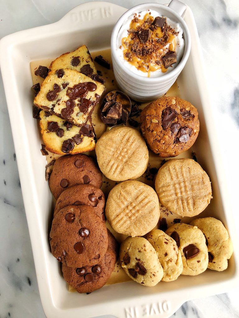 My Favorite Healthy Holiday Cookie Recipes and a my Peanut Butter Hot Chocolate recipe with you! Just in time for holiday baking.