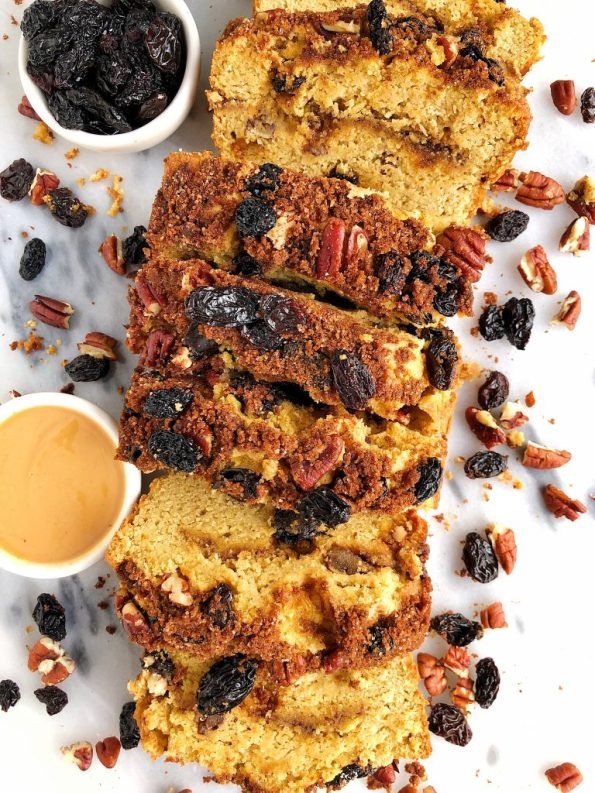 Gluten-free Cinnamon Swirl Breakfast Bread made with all grain-free and dairy-free ingredients for a healthy twist on cinnamon swirl bread!