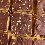 Sharing The Best Ever Dark Chocolate Cookie Dough Bars made with all nut-free, gluten-free and vegan ingredients for an easy no-bake dessert!