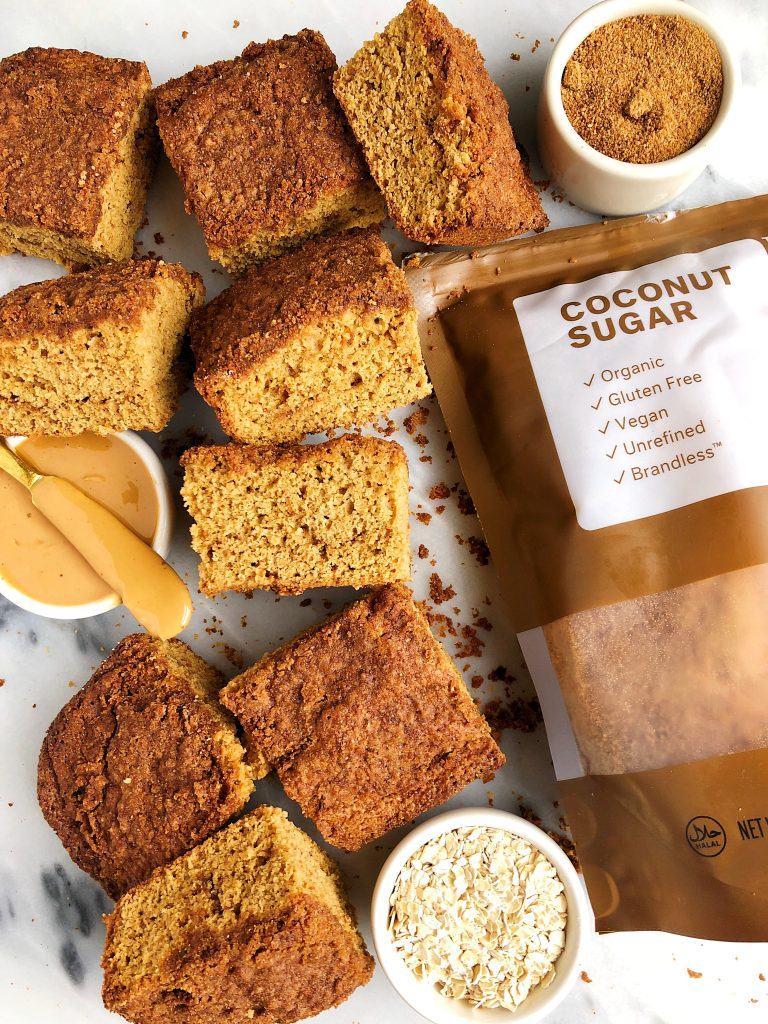 Sharing The Best Healthy Snickerdoodle Cake Bars made with all dairy-free ingredients and no refined sugar for an easy dessert recipe!