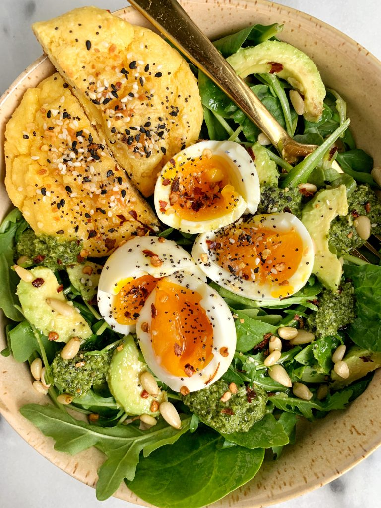 Sharing my simple recipe for6-minute Jammy Soft-Boiled Eggs cooked in Bone Broth for extra flavor and nutrients!