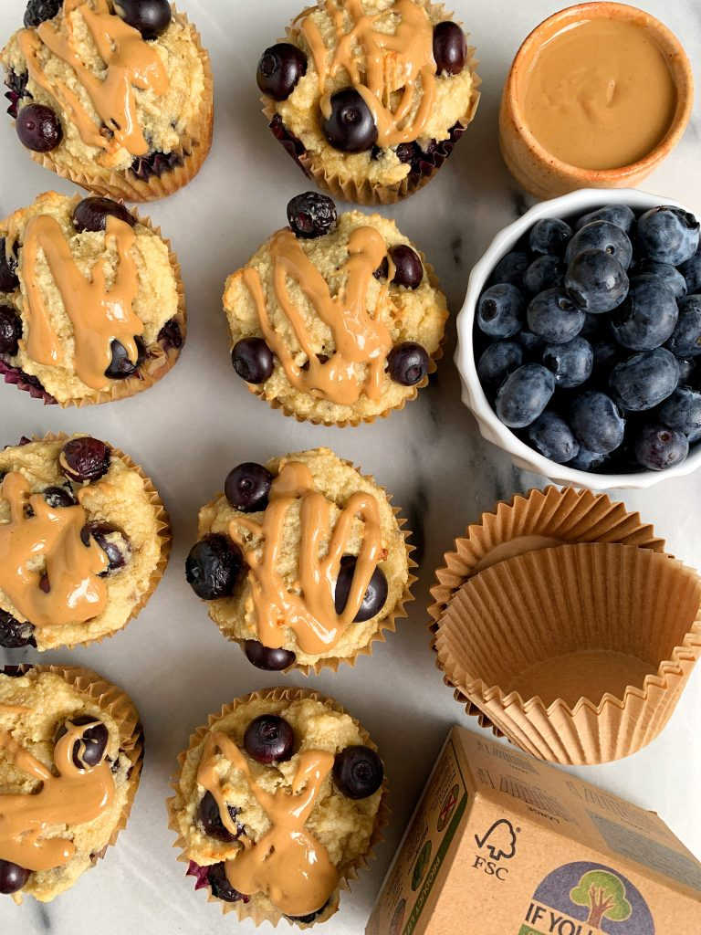 6-ingredient Paleo Blueberry Banana Bread Muffins made with simple and healthy ingredients for an easy blueberry muffin recipe!