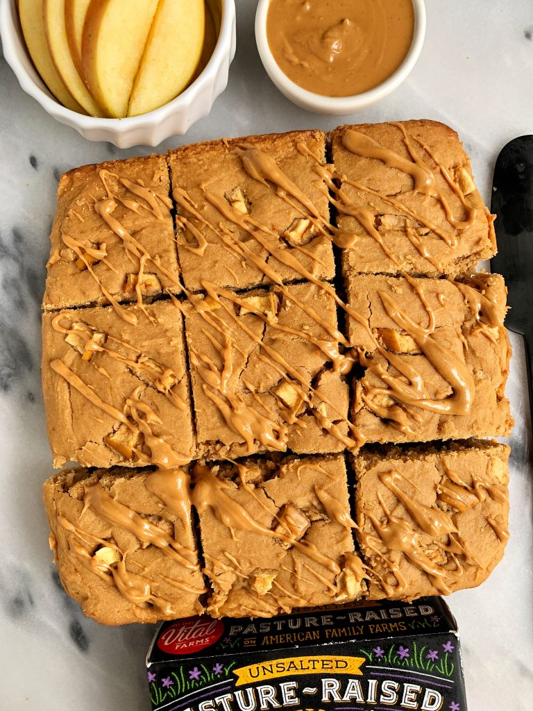 The Best Ever Gluten-free Apple Blondies made with a few simple ingredients for a classic fall apple dessert!