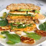 The Easiest Waffled Veggie Panini (gluten-free)