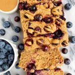 Vegan Lemon Blueberry Breakfast Bread (gluten-free + nut-free)