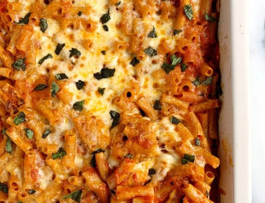 Healthy baked penne