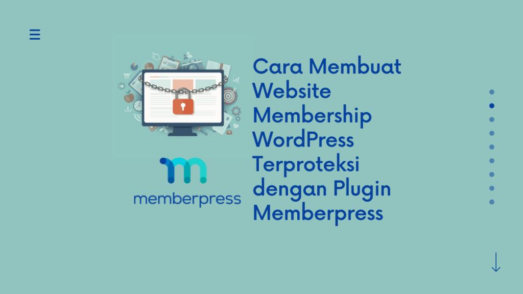 cara membuat website membership wordpress terproteksi