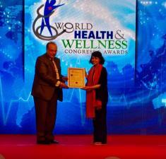 Receiving Global Health Leader Award