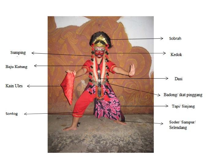 Busana Tari Topeng Cirebon