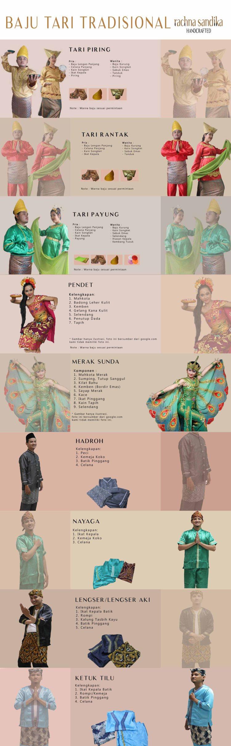 Flyer Baju Tari Tradisional Rachna Sandika 1