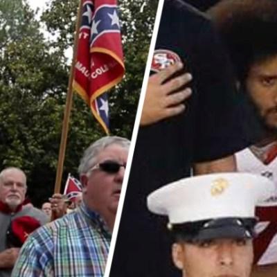 Colin Kaepernick Confederate Flag National Anthem