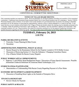 Sturtevant Committee Feb 24