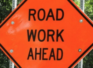 Highway 38 Road Work Ahead