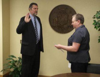 Bob Wittke was sworn in last week.