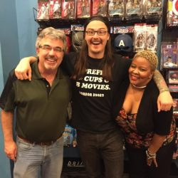 Mick Wynhoff, Josh Shafer, and actress Mollena Lee Williams-Haas got together at a re-release party in New York.
