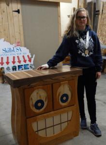 Meghan Park HS Woodworking Champ 2016