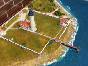 Wind Point Lighthouse diorama - full