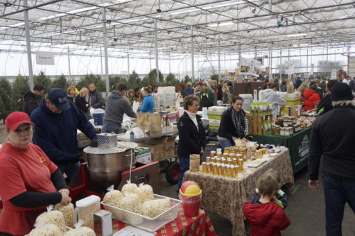 Hundreds of people came to Milaeger's winter farmer's market on Sunday, Nov. 30.