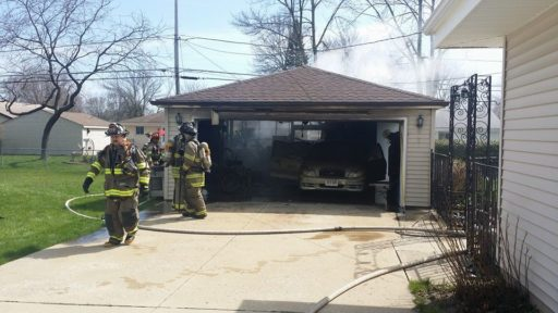 Wood stove causes fire